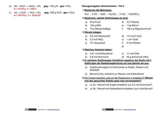 Beste Gas Stöchiometrie Arbeitsblatt Antworten Ideen ...