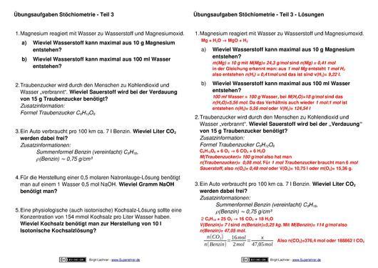 Atemberaubend 12 Stöchiometrie Arbeitsblatt Antworten Ideen ...